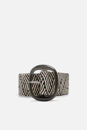 Zara Tweekleurige gevlochten riem
