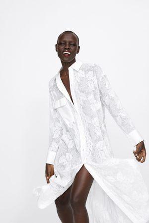 Zara Geborduurde tuniek met borstzakje