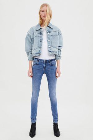 Zara Sculpt jeans met halfhoge taille en scheuren