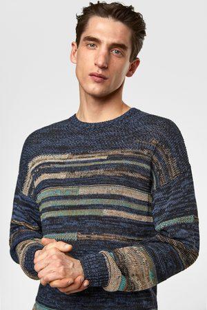 Zara Jacquard trui met gekleurde strepen
