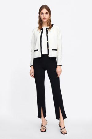Zara Dames Pantalons - Rechte broek met splitten