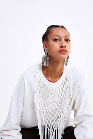 Zara Sweatshirt met franjes