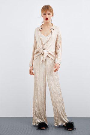 Zara Jumpsuit met kreukeleffect