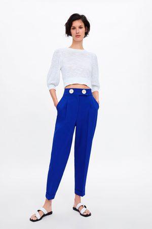 Zara Broek met hoge taille en knopen