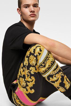 Zara Heren Joggingbroeken - Joggerbroek met fluor barrokprint