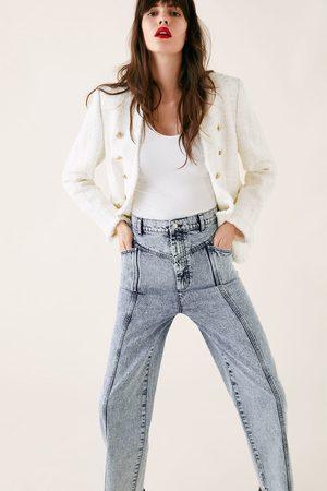 Zara Baggy jeans zw premium 80's acid blue