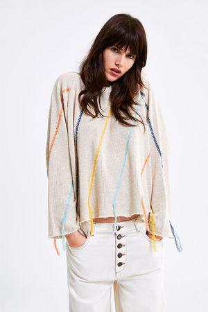 Zara Tricot sweatshirt met geborduurde franjes