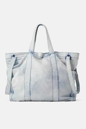 Zara Extra grote denim shopper