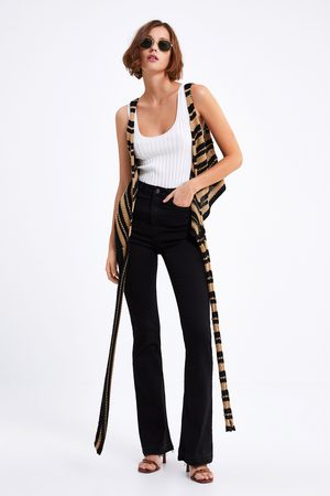 Zara Dames High waisted - Jeans zw premium high waist skinny flare lead black