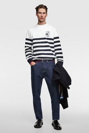Zara Gestreept sweatshirt met borduursel