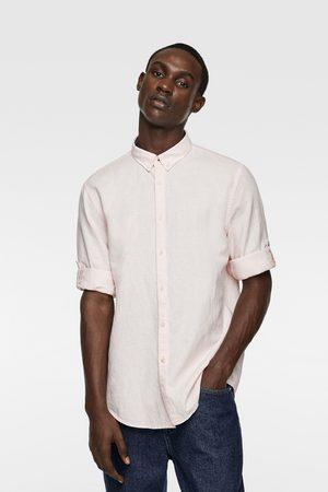 Zara Heren Overhemden - Overhemd met mouwophouders