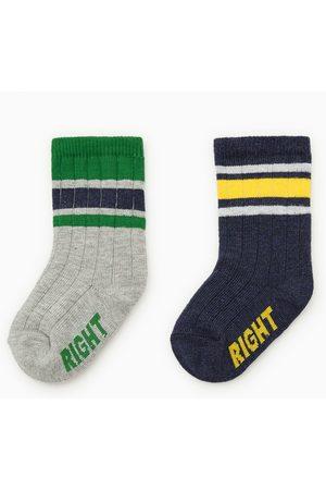 Zara Set van twee paar gestreepte sokken