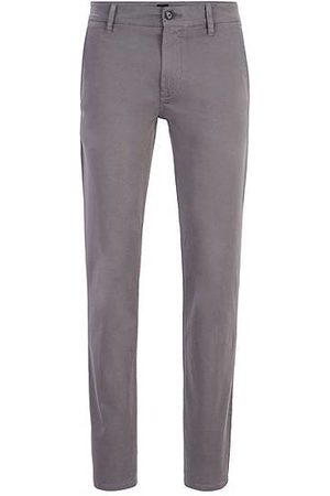 HUGO BOSS Heren Chino's - Slim-fit casual chino van geborstelde stretchkatoen