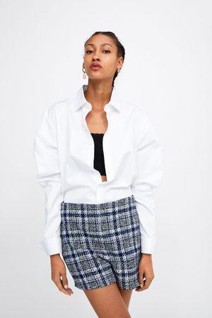 Zara Geruite tweed bermuda
