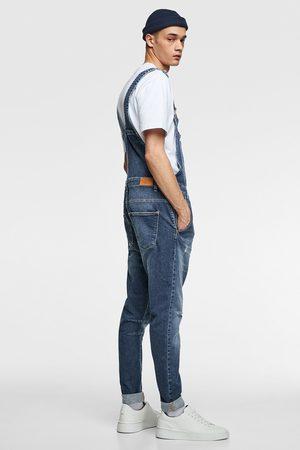 Zara Denim tuinbroek in verwassen vintage look