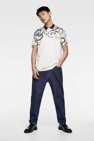 Zara Polo met kettingenprint
