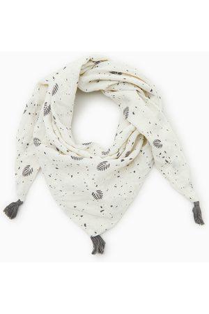 Zara Driehoekig sjaaltje met bladeren