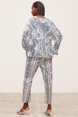 Zara Printed blouse with metallic thread