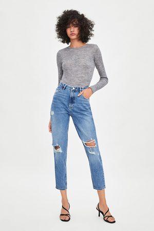 Zara Jeans hi rise classic mom fit