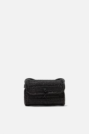 Zara Ovalen gevlochten tas