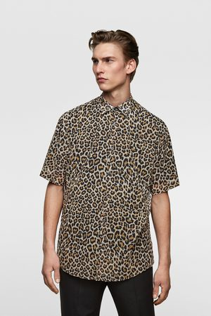 Zara Flowing animal print shirt