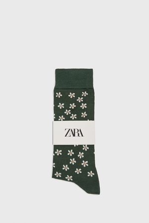 Zara Gemerceriseerde sokken met madeliefjes