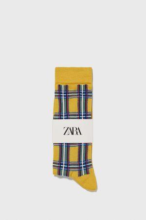 Zara Check socks