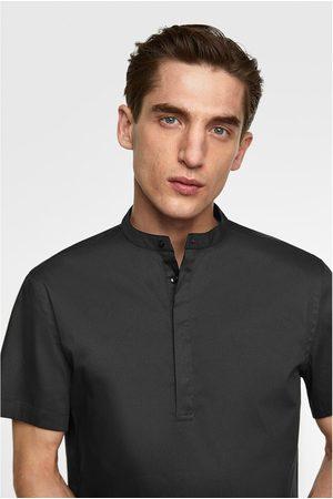 Zara Overhemd in extra slim fit met maokraag