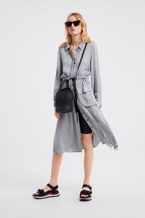 Zara Overhemdjurk met zakken