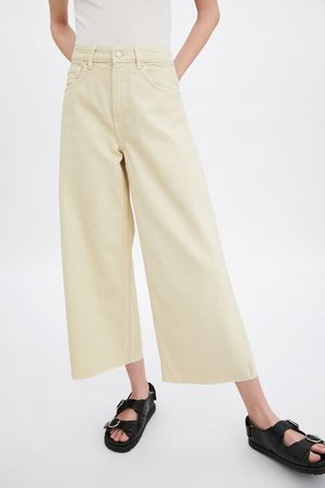 Zara Cropped culotte-jeans met mid-rise