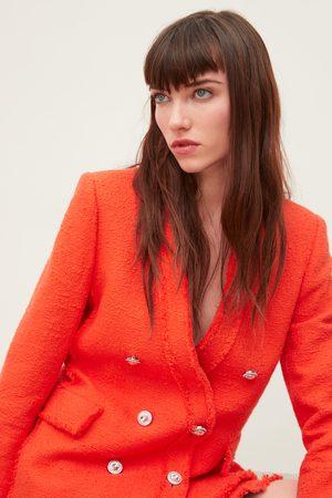 Zara Tweed jasje met sierknoop
