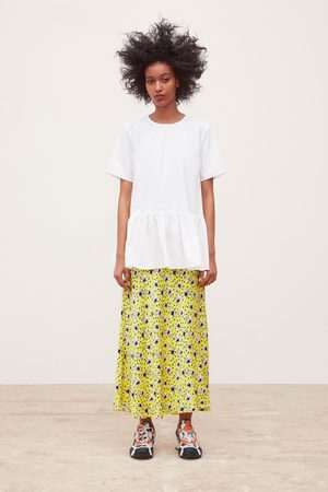 Zara Popeline blouse met volant