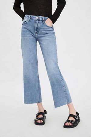 Zara Jeans met hoge taille en wijde pijpen