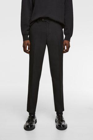 Zara Heren Pantalons - Broek met structuur en stretch
