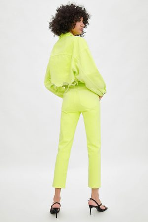 Zara Gekleurde slim fit jeans met hi-rise