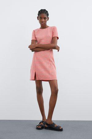 Zara Geruite jurk