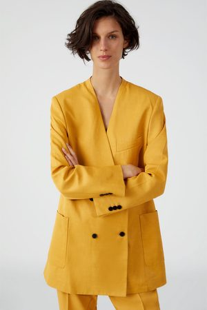 Zara Double-breasted blazer met zakken