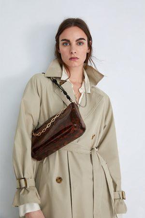 Zara Langwerpige tas met schildpadeffect