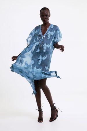 Zara Semi-sheer embroidered tunic