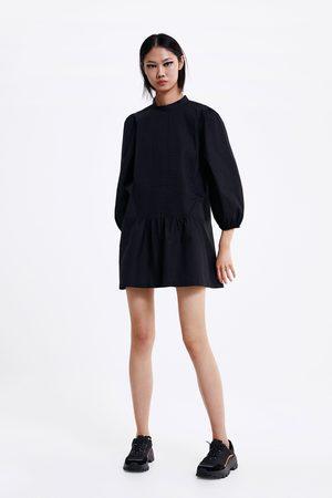Zara Korte popeline jurk
