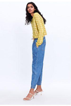 Zara Jeans z1975 in joggerstijl met koord