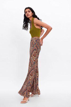 Zara Bell-bottom broek met print