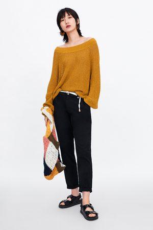 Zara Soepelvallende broek met ceintuur