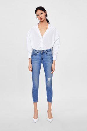 Zara Skinny jeans z1975 met scheuren