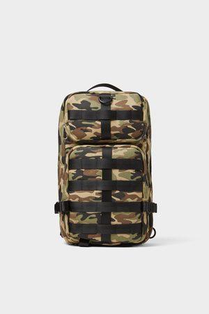 Zara Schoudertas met camouflageprint en veel zakken