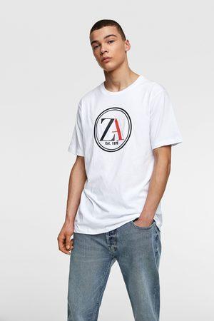 Zara T-shirt met biezen met logo