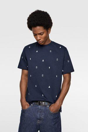 Zara T-shirt met nautische borduursels