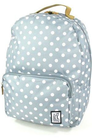 The Pack Society Classic Backpack White dots allover