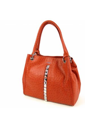 SAYA Rode handtas damestas met studs en print