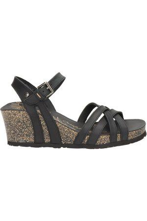 Panama Jack Dames Sandalen met sleehakken - Vera sleehak